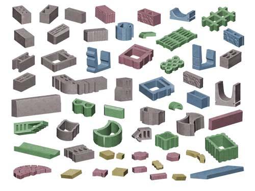 Nagy választék, sokféle építőanyag